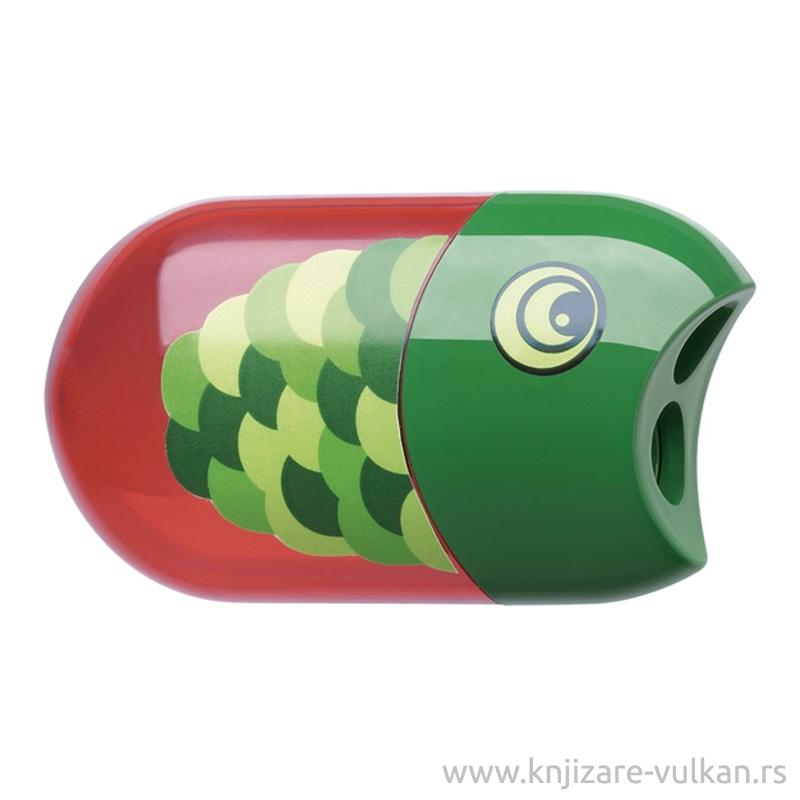 Rezač i gumica Faber Castell FISH