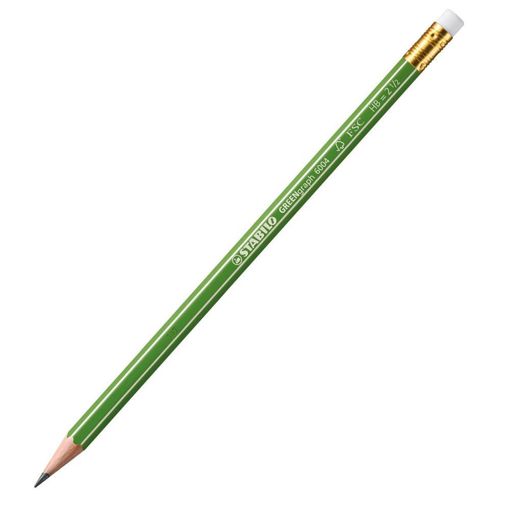 Grafitna olovka HB sa gumicom STABILO Green