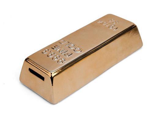 COIN BANK GOLD BAR