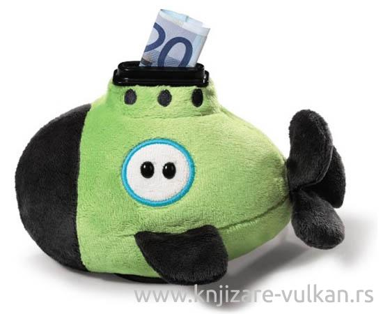 MONEY BANK SUBMARINE FIGURINE SHAPE PLUSH 15X10CM