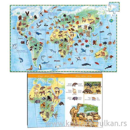 WORLDS ANIMALS AND BOOKLET 100 PCS