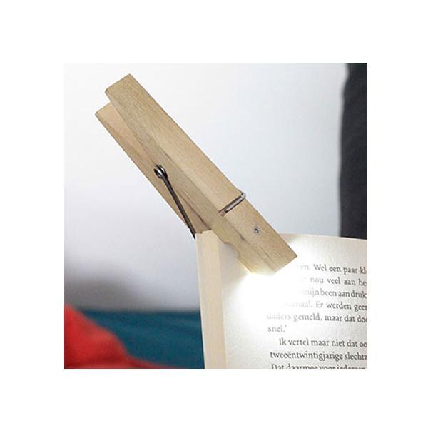 Lampica za čitanje CLOTHESPIN Natur
