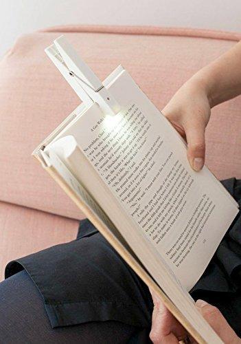 Lampica za čitanje CLOTHESPIN Bela