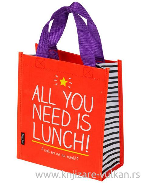 ALL YOU NEED IS LUNCH HANDY TOTE