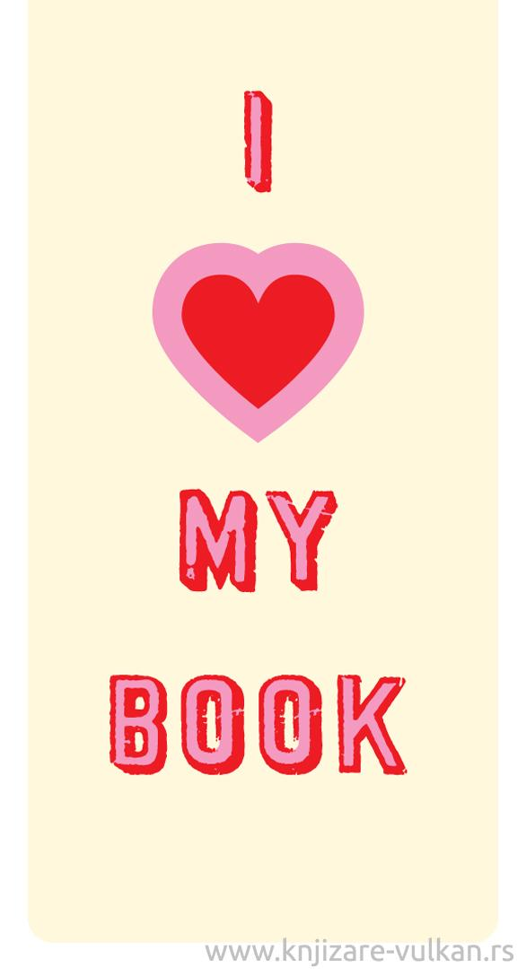 Magnetni bookmarker I HEART MY BOOK