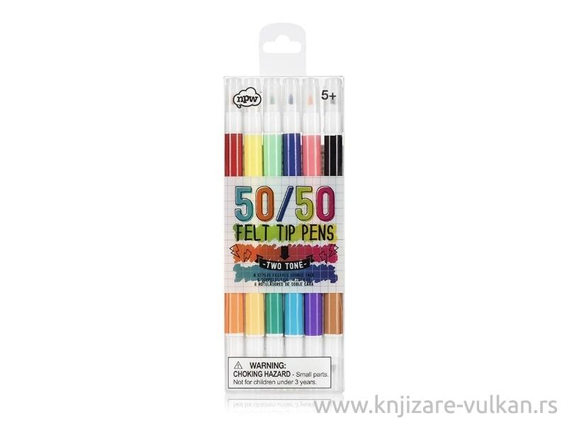 Flomasteri dupli SKETCH COLOUR 5050, 12 boja