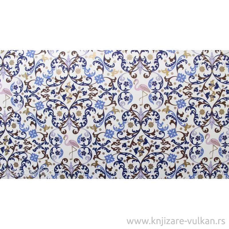 Ukrasni Papir FLORENTIN SYLE FLAMINGO BLUE