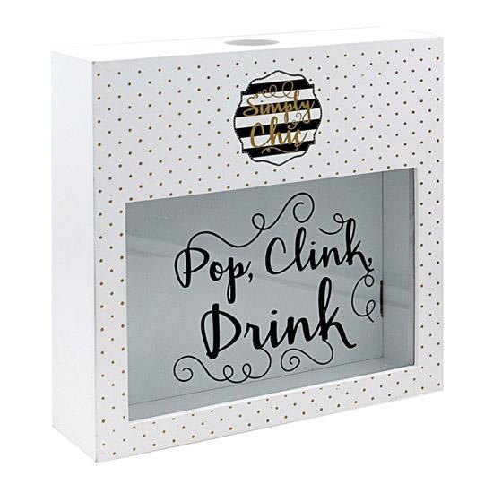 SIMPLY CHIC WINE CORK BOX