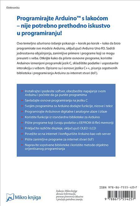 ARDUINO UVOD U PROGRAMIRANJE prevod 2. izdanja