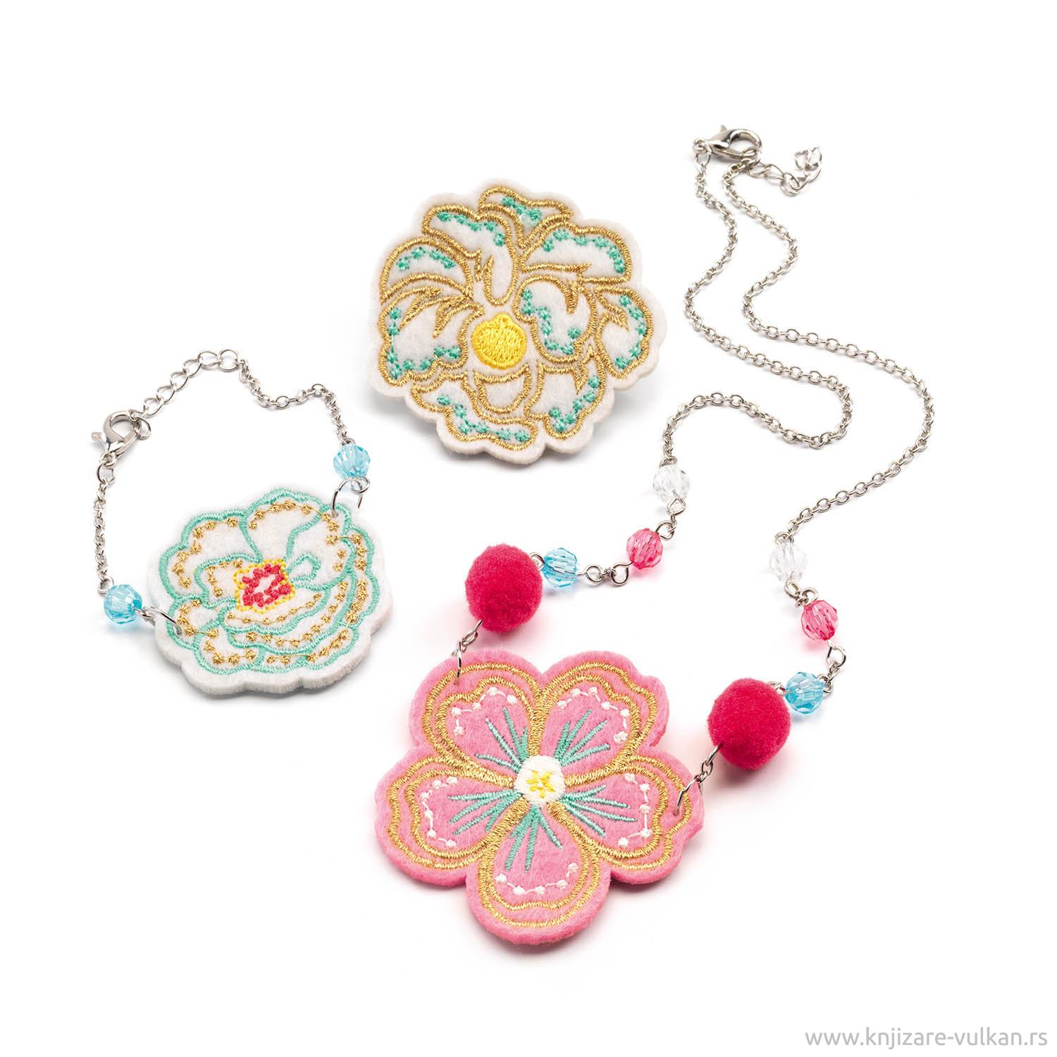 JEWELLERY SET<br /> Embroidered Jewels Flower