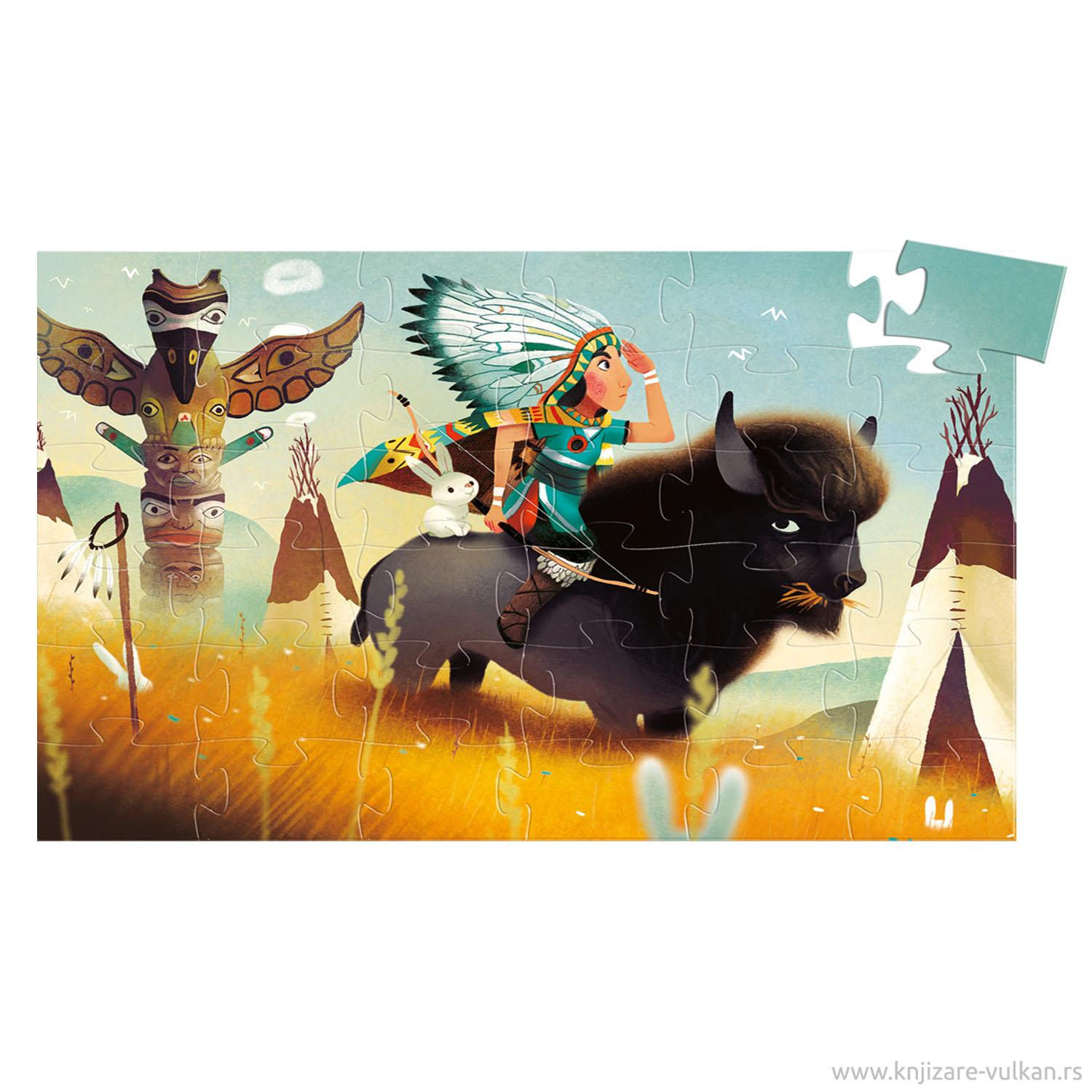 SILHOUETTE PUZZLE Tatanka Young Indian