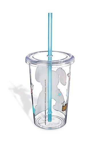 Providna čaša sa poklopcem i slamkom THEODOR AND FRIENDS
