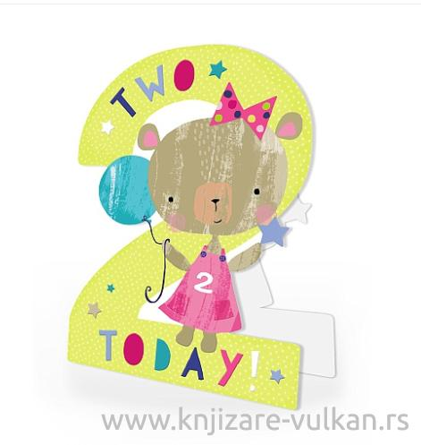 Rođendanska čestitka TWO TODAY!