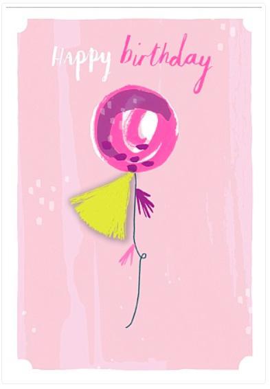 Rođendanska čestitka BALLOON HAPPY BIRTHDAY