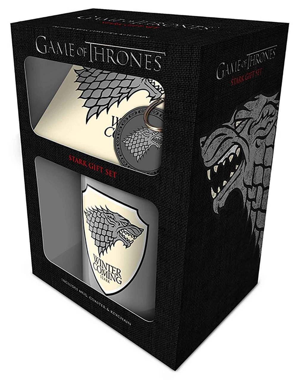 Set (šolja, podmetač i privezak) GAME OF THRONES Stark