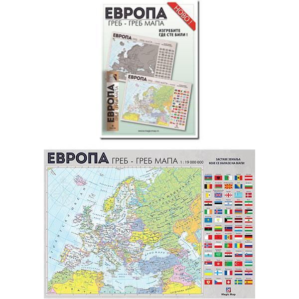 Greb-greb MAPA EVROPE