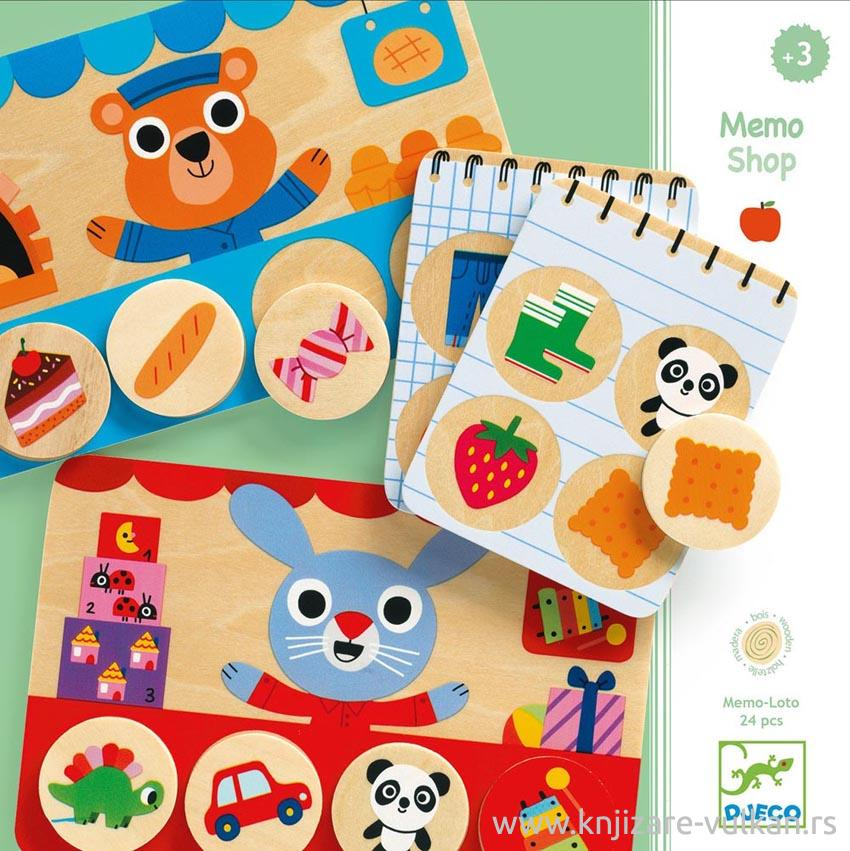 WOODEN EDUCATIVE GAME MEMO LOTO SHOP