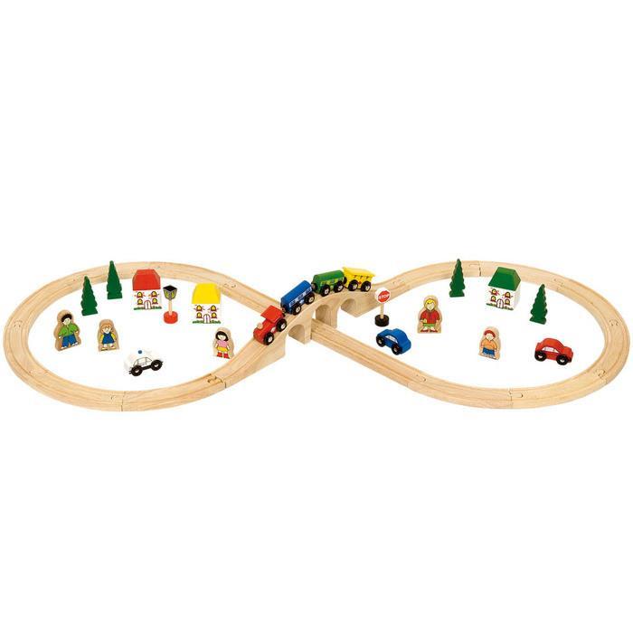 Drvena igračka VOZ SA PRUGOM