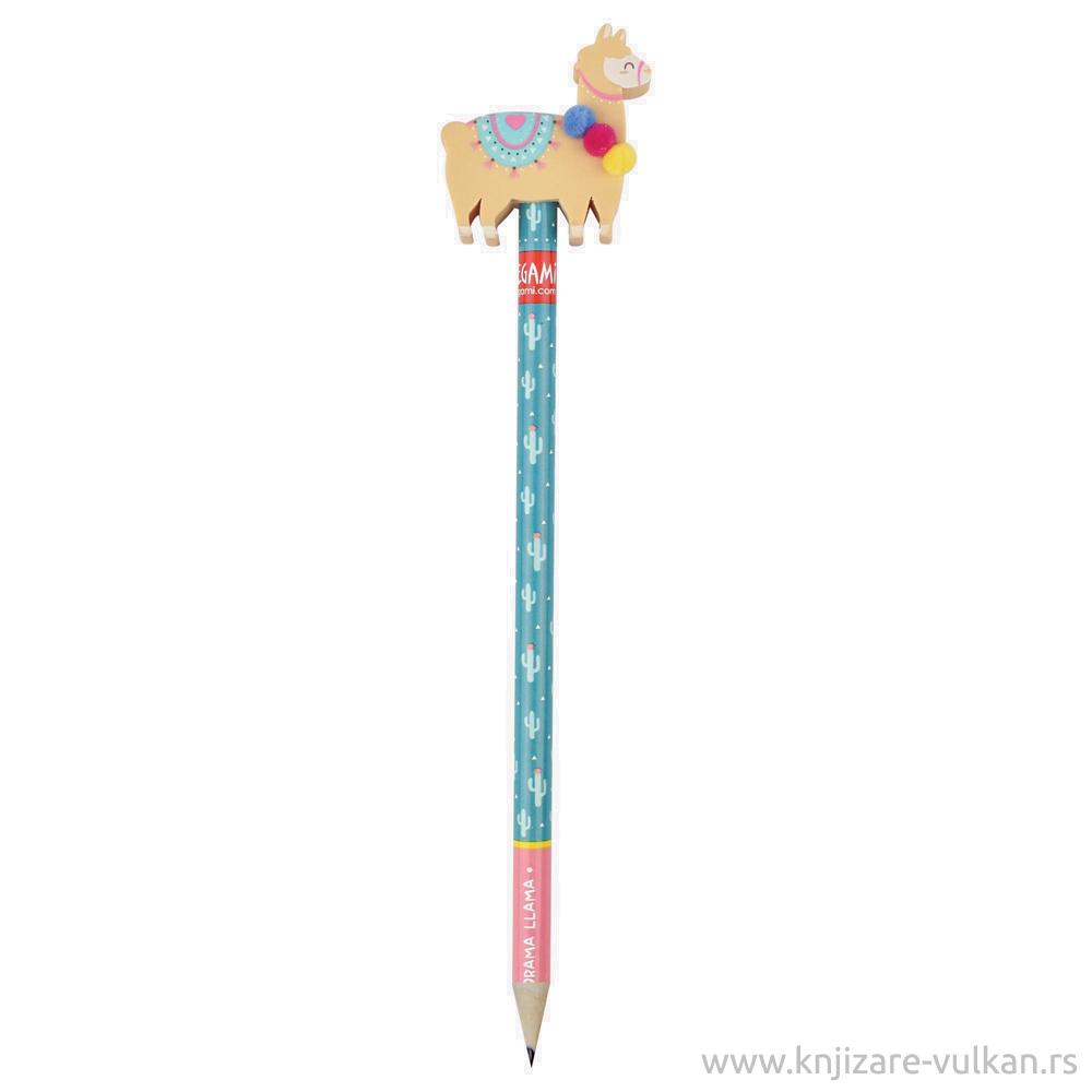 Grafitna olovka sa gumicom NO DRAMA LLAMA Žuta