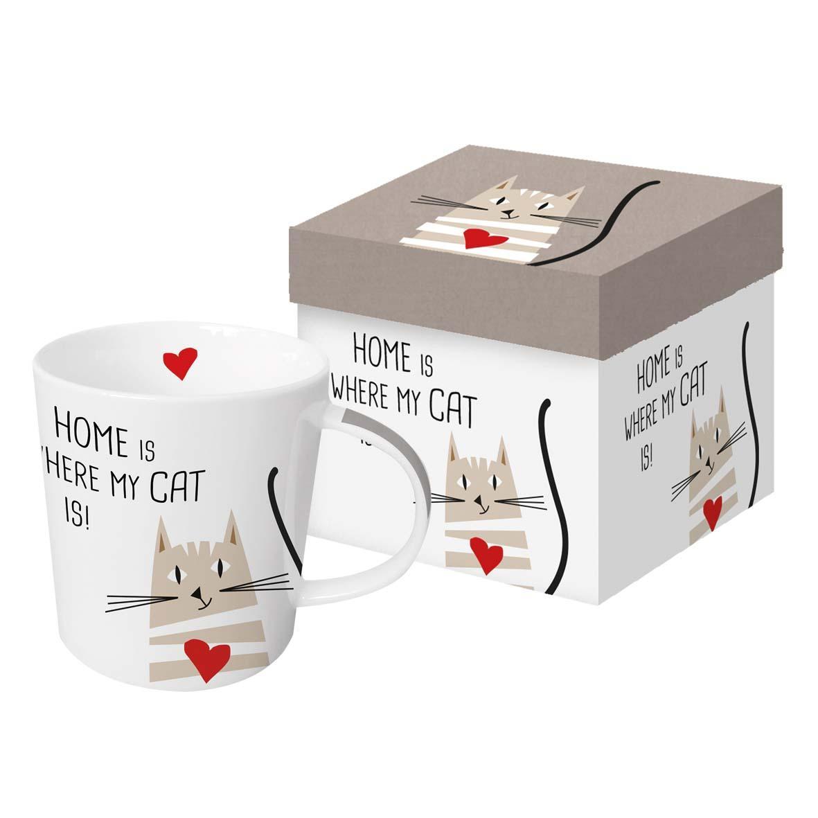Šolja u poklon kutiji HOME CAT