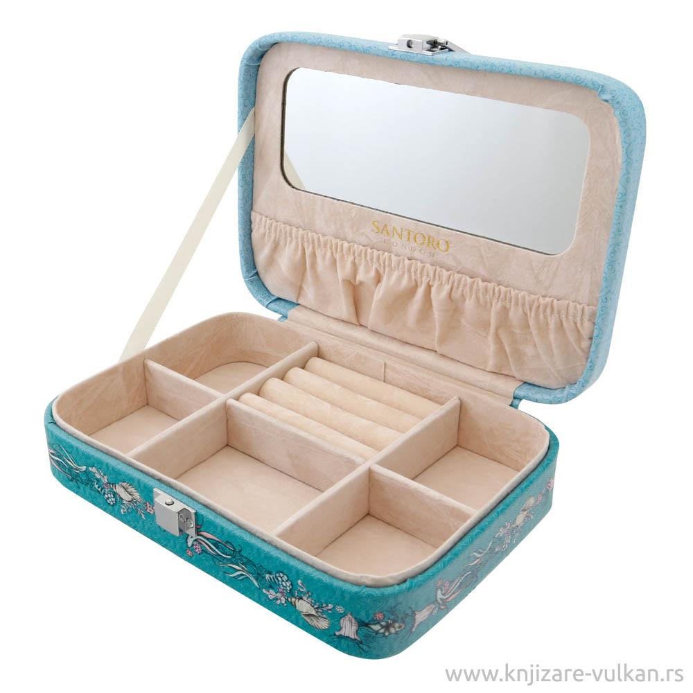 Kutija za nakit sa ogledalom MIRABELLE Marina, velika
