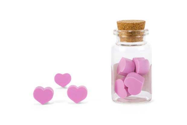 Gumice za brisanje u obliku srca sa mirisom ruže