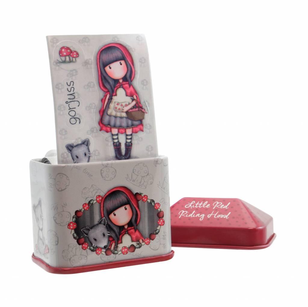Ukrasna kutijica GORJUSS sa stikerima, Little Red Riding Hood