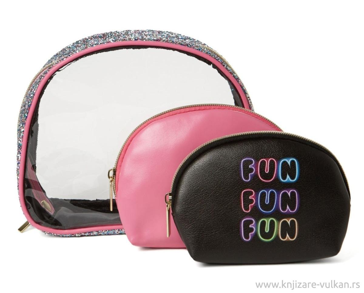 Neseser CLEAR DOME S/3 COSMETIC BAGS