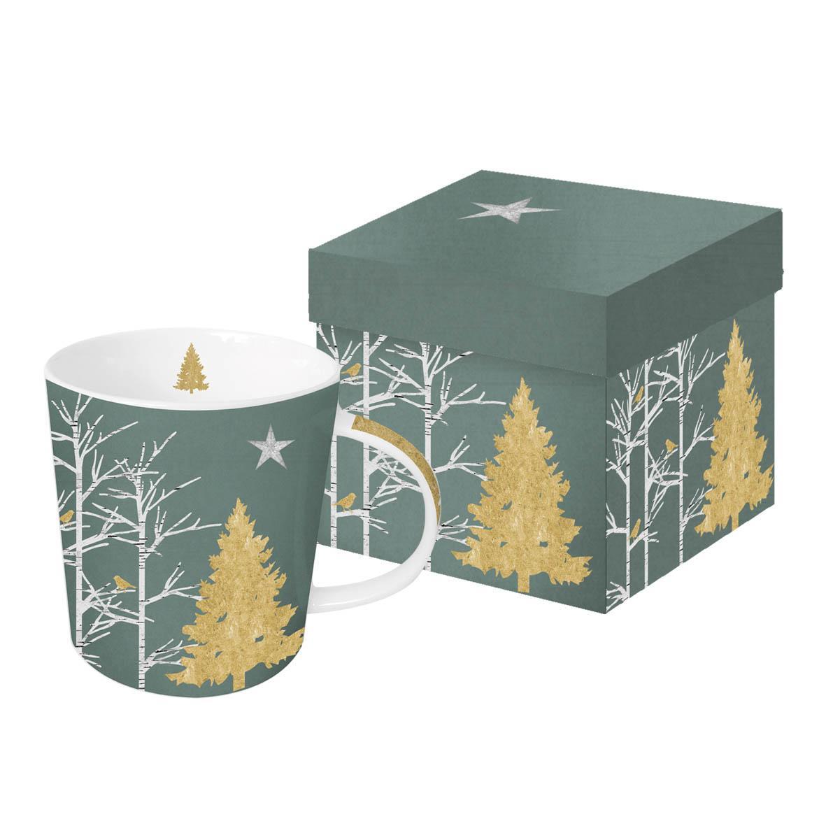 Šolja u poklon kutiji MYSTIC TREE Real gold