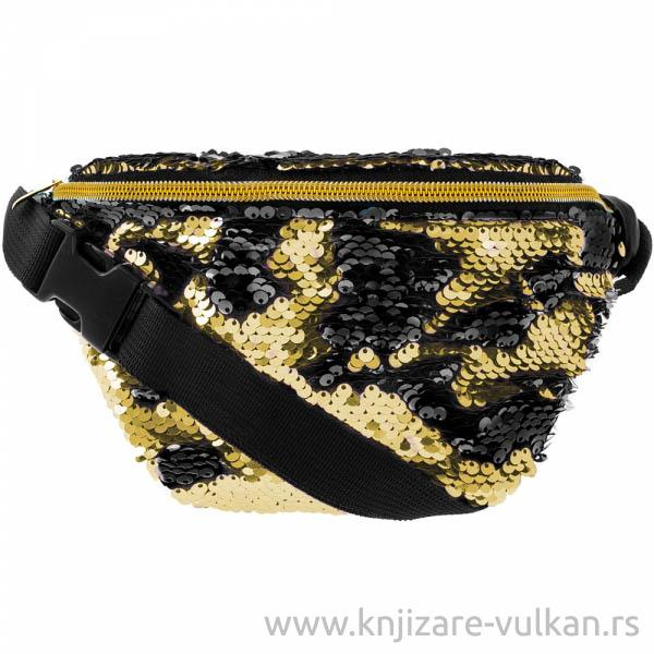 Torbica SEQUIN BLACK & GOLD