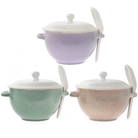 Glazirane činije za supu 3 Vrste