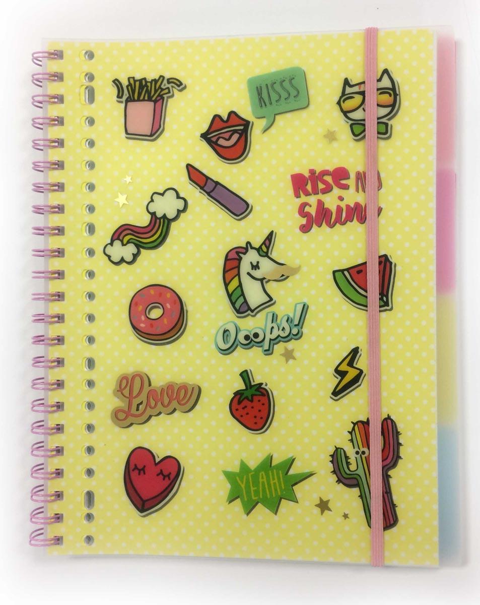 Notes sa spiralom A4 LOVE OOOPS SHINE!