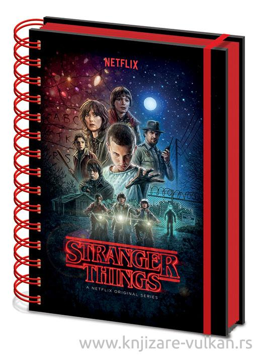 Notes A5 sa spiralom STRANGER THINGS
