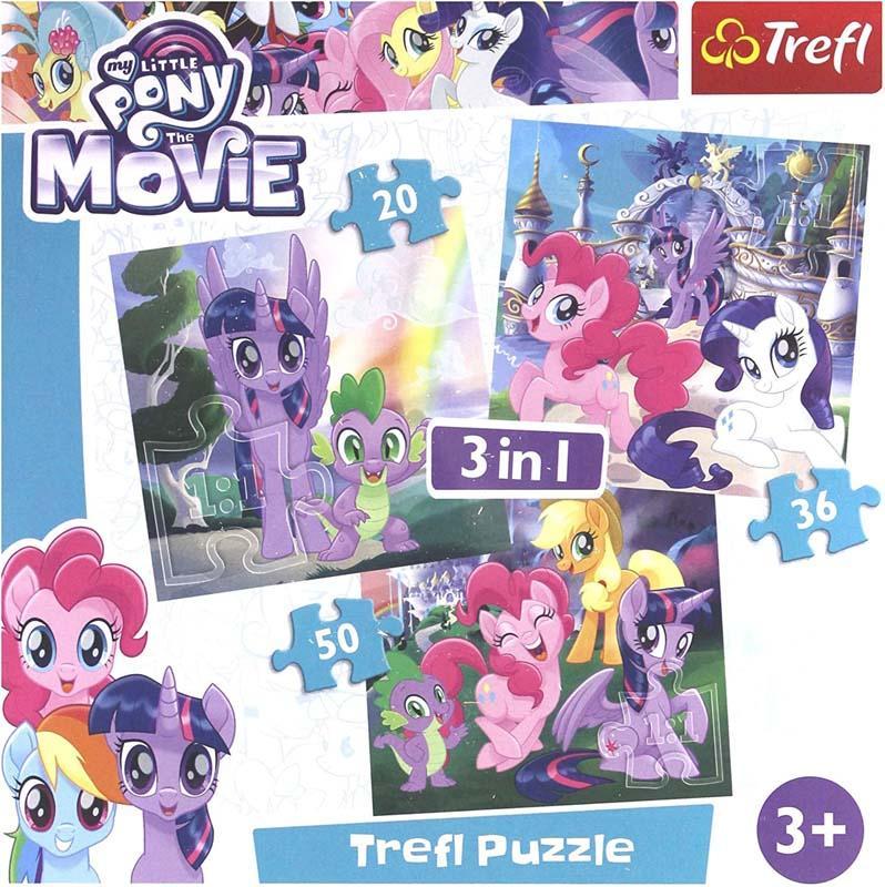 Puzzle 3 u 1 TREFL My Little Pony