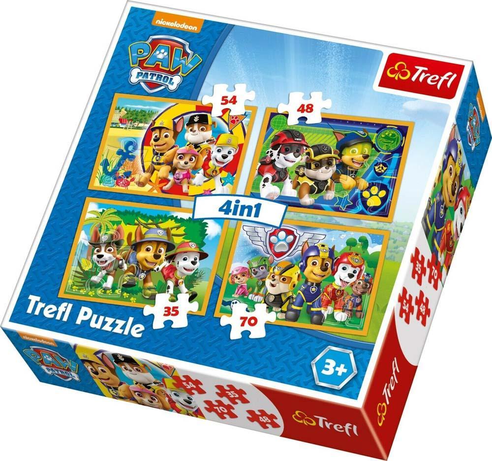 Puzzle 4 u 1 TREFL PAW Patrol