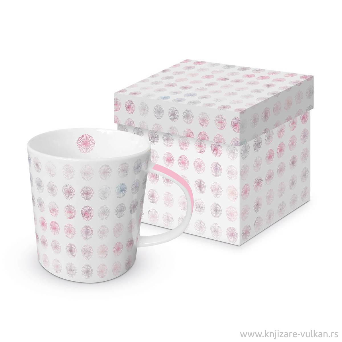 Šolja u poklon kutiji MINIMAL FLOWERS ROSE