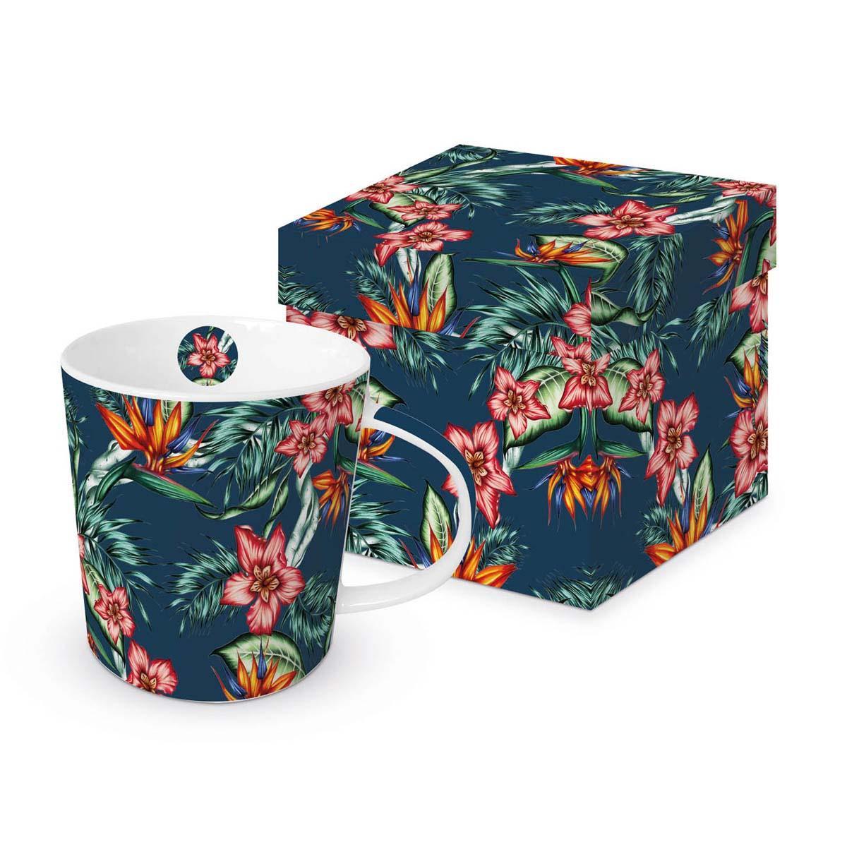 Šolja u poklon kutiji TROPICAL FLOWERS