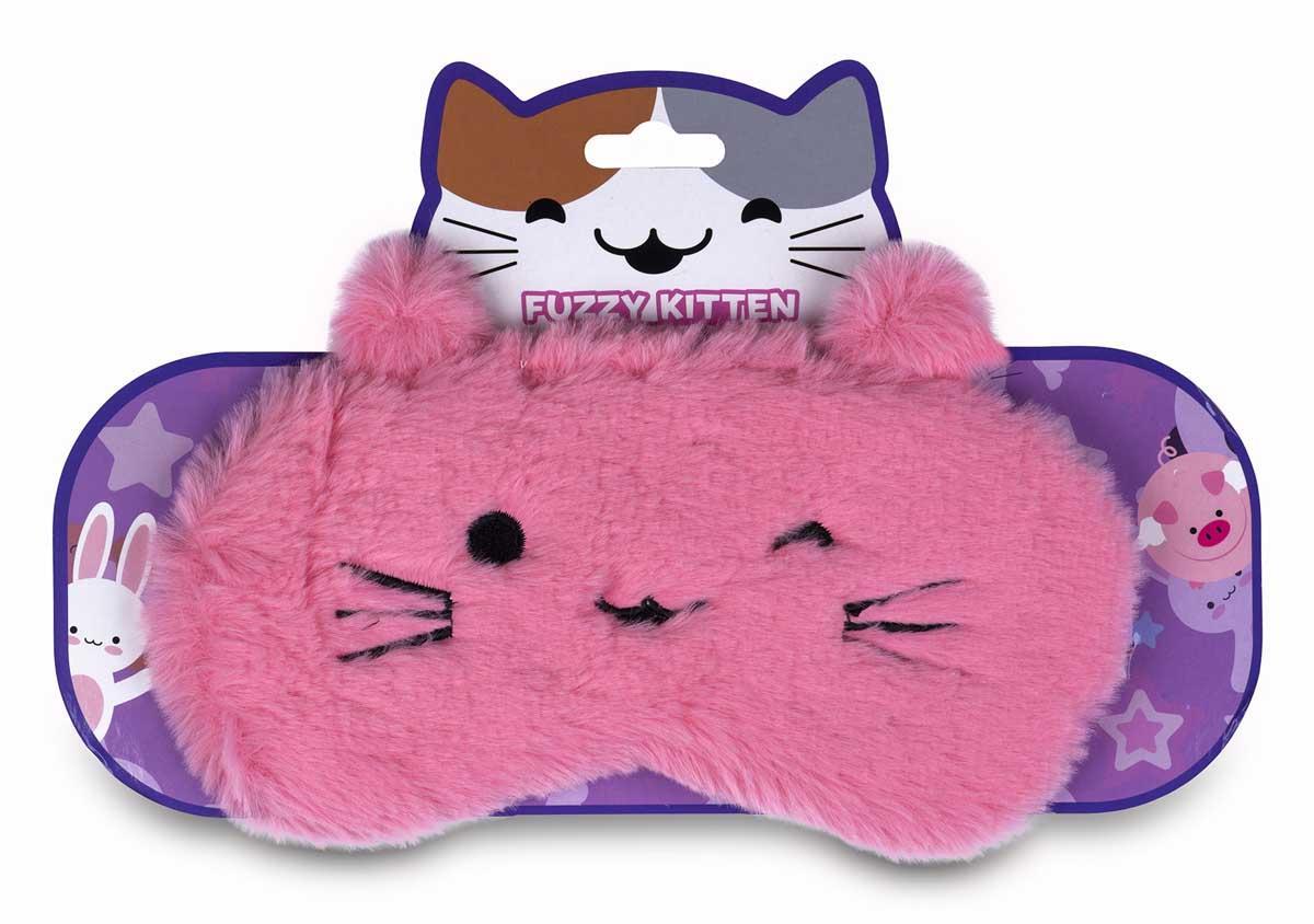 Maska za spavanje FUZZY KITTEN Pink