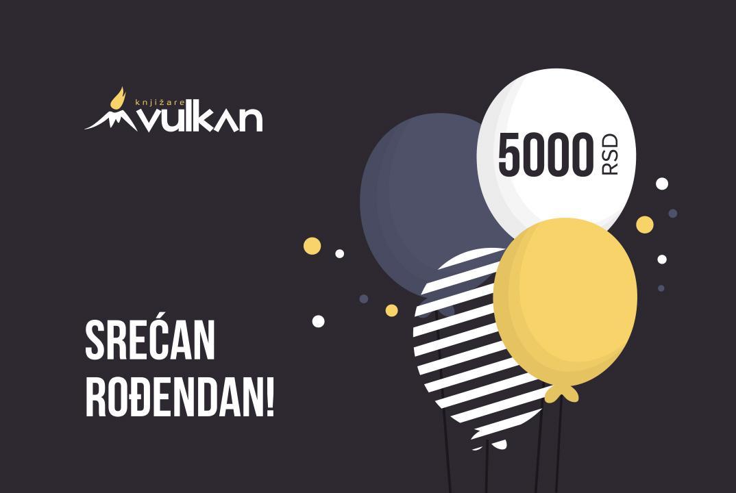 GIFT KARTICA/VAUČER Srećan rođendan Black 5000