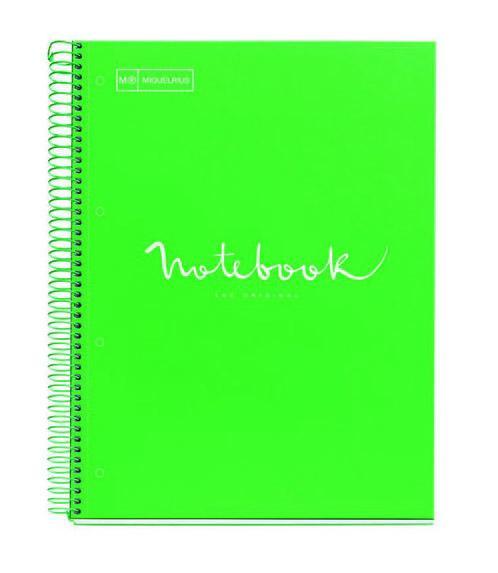 Notes A4 sa spiralom HOR EMOTIONS Green