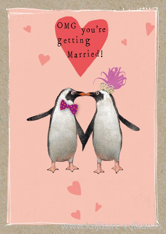 Svadbena Čestitka FANCY PANTS GETTING MARRIED PINGUINS