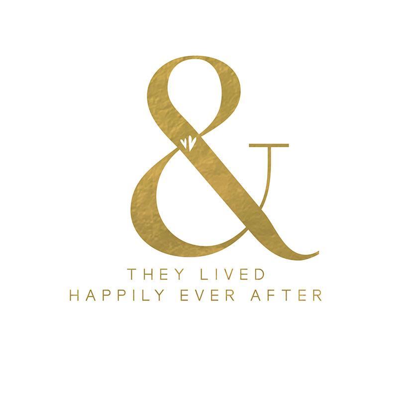 Svadbena Čestitka PURE GOLD HAPPILY EVER AFTER