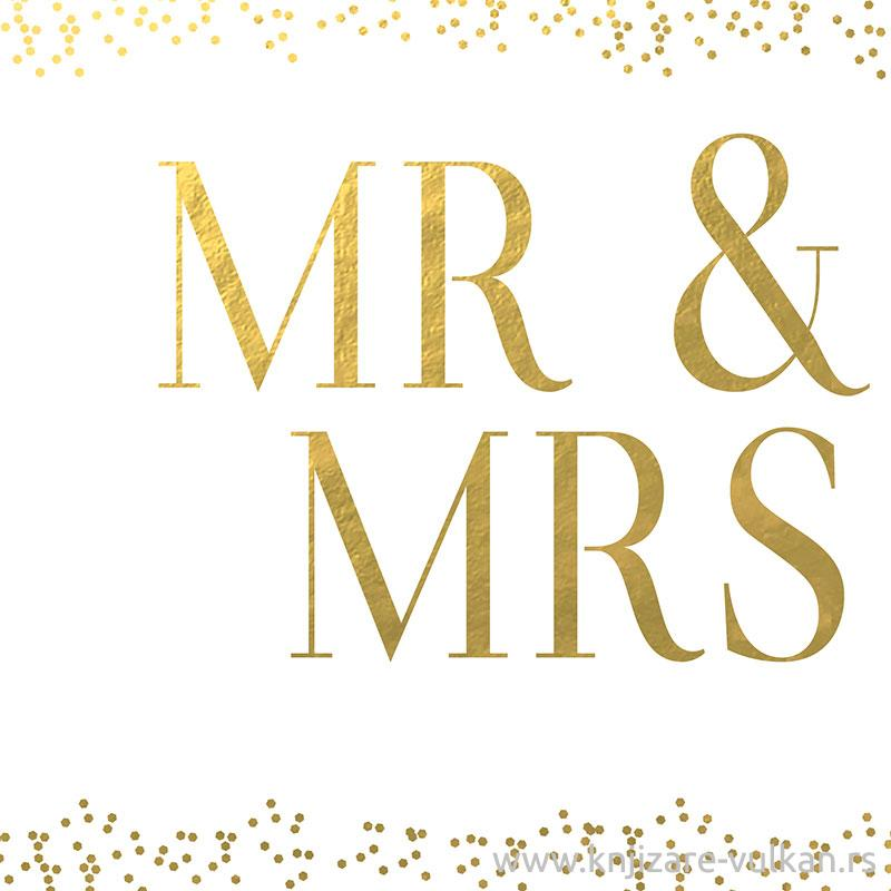 Svadbena Čestitka PURE GOLD MR & MRS
