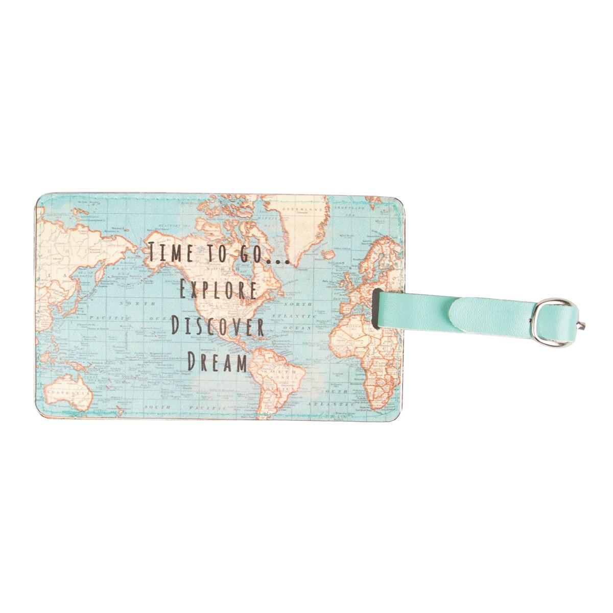 Tag za putnu torbu VINTAGE MAP Time to Go
