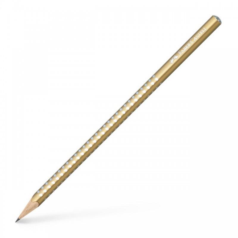AMPHORA FABER CASTEL <br /> Grafitna olovka HB zlatna SPARKLE