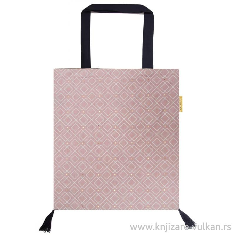 Pamučna torba ROSE WITH WHITE GRAPHIC