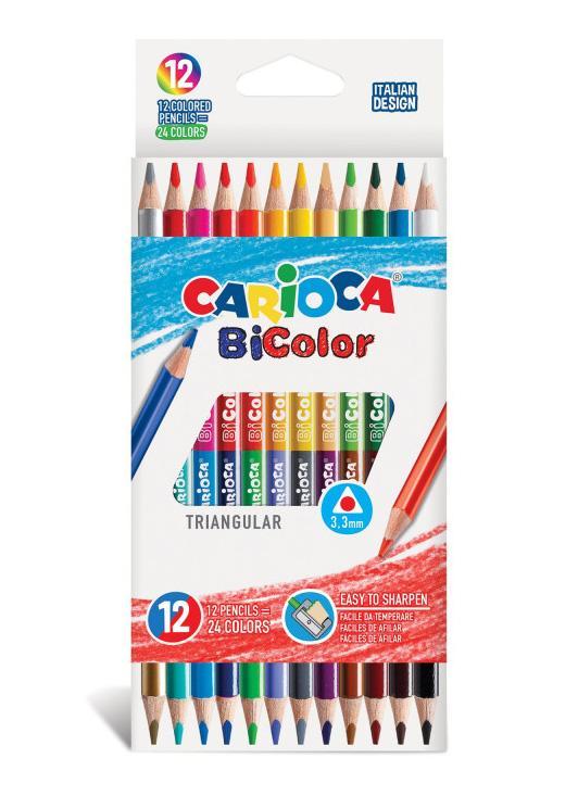 Drvene bojice 1/12 CARIOCA Bicolor
