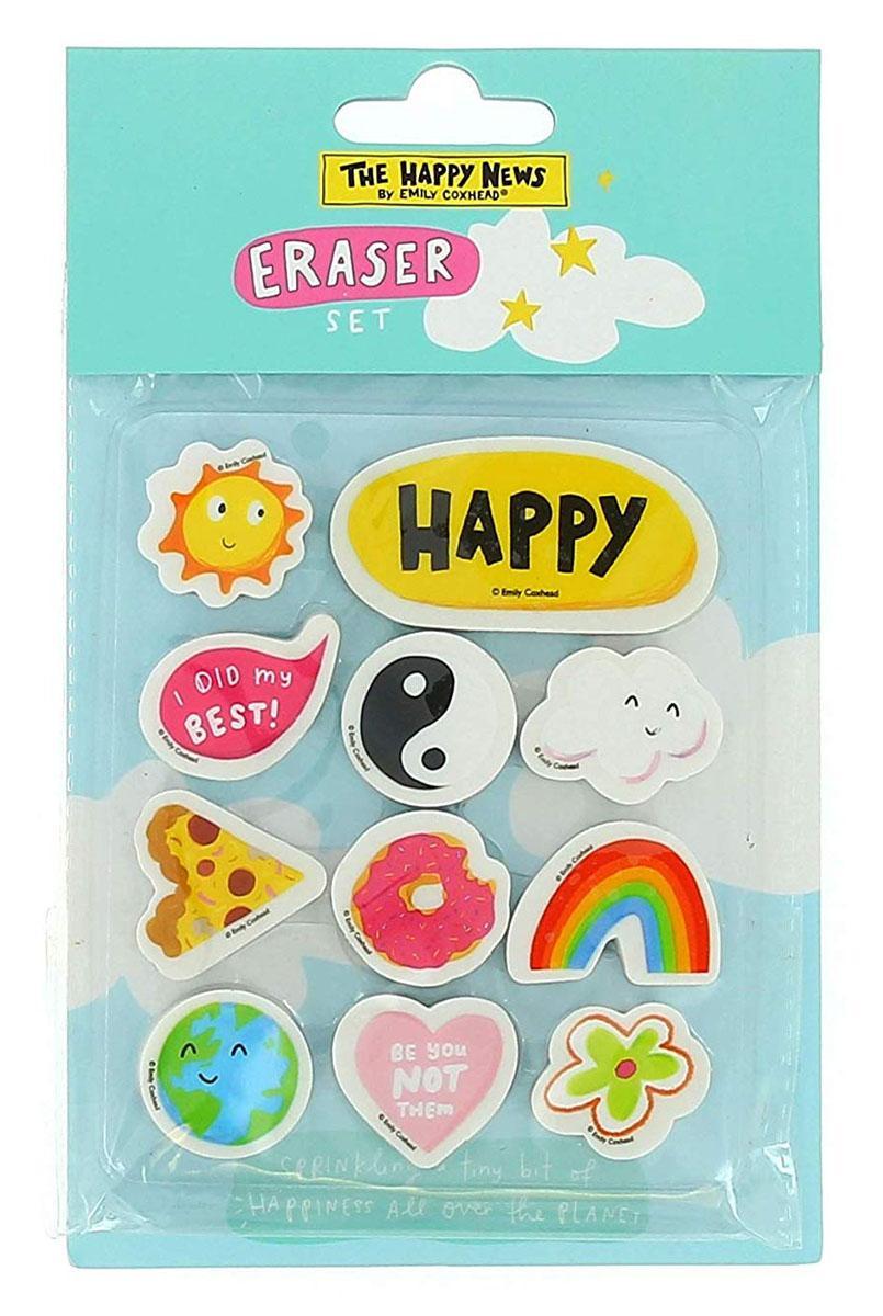 Set gumica za brisanje HAPPY NEWS