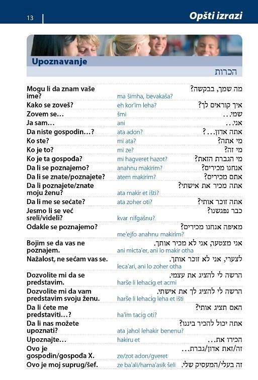 HEBREJSKI priručnik za konverzaciju