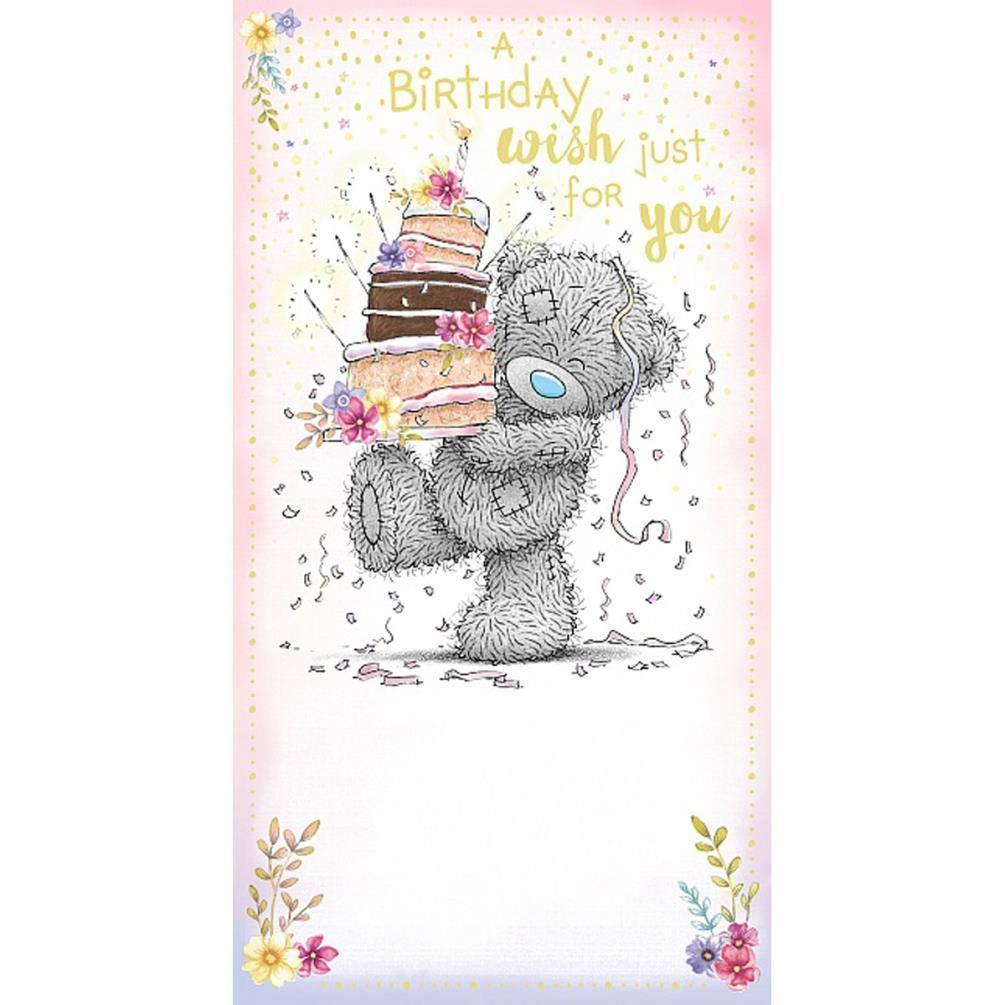 Rođendanska Čestitka OPEN BDAY BEAR HOLDING CAKES